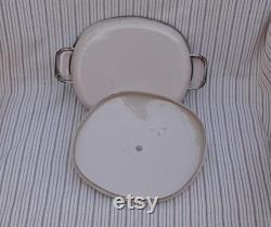 Mid-century Monterrey Ware, Western Enamel, Longhorn Pan Dish