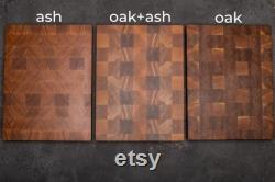 Oak End Grain Board, Kitchen Decoration, Cutting Boards, Custom Cutting Board, Oak Recipe Cutting Board, Large Wood Cutting Board