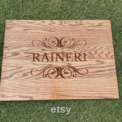 Personalized Engraved Stove Top Cover (gas Or Electric), Top Wooden Stove Cover, Noodle Board, Rack Gift, Wooden Stove Cover