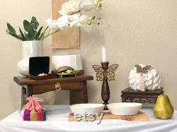 Set6 Type3 Yarn Cake Mini Wooden Soban (6.5 ) Wooden Banner Butterfly Candle Holder For The Celebration Dohl 100day