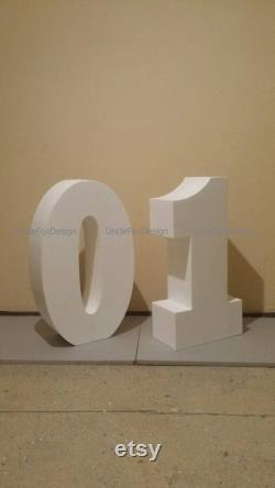 Set Of 2 Giant Numbers 30 Inches 3d Numbers Large Number Of Letters Standing Free Numbers To Order The Giant Decoration Of Foam Number Part