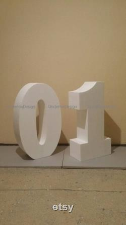 Set Of 2 Numbers Giant Numbers 30 Inches 3d Numbers Large Free Standing Letter Giant Shipping Letters Foam Number Decoration Part