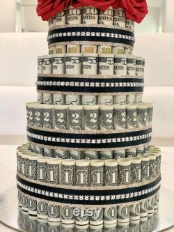 Silver Cake At 365 Dollars, On 4 Levels