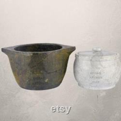 Soapstone Cooking Pot Seasoning And Pot Combo Of Soapstone Curd, Traditional Storage Of Soapstone, Service, And Kitchen Utensils