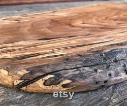 Spalted Apple Wood Service Tray Charcuterie Board