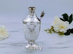 Sterling Silver Honey Dish, Original Bier Design, Rosh Ha S Shana Honey Pot, Finnish Martelé, Silver Table Decoration Masterpiece, New Year's Gift