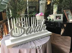 Sweet 16 Candelabra, Quinceanera And Mitzvah Candle Lighting Centerpiece Two-tiered Size