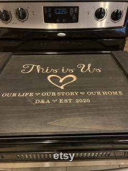 Top Pan Cover, Engraved Cnc Stove Cover, Farm Kitchen Decor, Hand-made Noodle Board, Wedding Gift, Personalized Gift, Handmade.