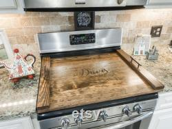 Top Stove Cover Wooden Noodle Panel Serving Tray Custom Cover For 30-inch Stove