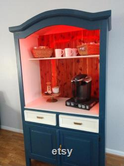 Upcycled Coffee Bar, Beverage Bar, Wine Bar, Rustic Coffee Bar, Coffee Cabinet