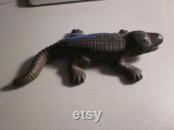 Victorian Cast Iron Desk Top Alligator Match Stick Holder