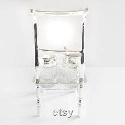 Victorian Silver Novelty Chair Cruet Condiment Salt Set Of Pepper
