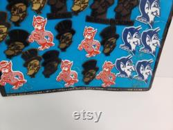 Vintage 1973 Ncaa College University Mascots Rubber Fridge 24 Magnets Total Nos On Store Display Duke Blue Devils Nc State Wolfpack Wake