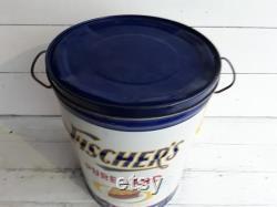 Vintage Fischer S Pure Lard Tin Fischer Packing Company Louisville, Kentucky 25lbs. Farmhouse Decor Farmhouse Kitchen