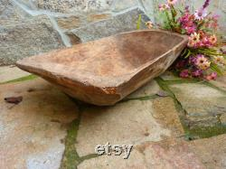 Vintage Pastry Bol Wood Trench Bol Long Bread Trough Rare Primitive Unique Housewarming Gift Rustic Home Decor
