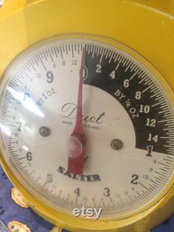 Vintage Yellow Scale Made In England, Farm Scale, Yellow Kitchen Accent