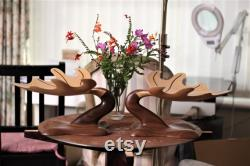 Walnut, Handmade Maple Table Center Sculpture Bowl