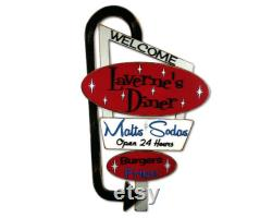 Welcome Sign Moms Diner Welcome Kitchen Personalized Decor Retro Welcome Sign Vintage Look Retro Restaurant Sign Route 66 Retro Diner Sign