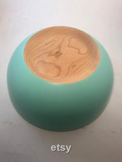 Wooden Bowl In A Black Cherry Satin Brace Outside ( 13.75x5.5)