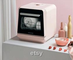 220V Automatique Ménage Vaisselle électrique Laveuse Bureau Installation-libre Intelligent Lave-vaisselle Machine à laver
