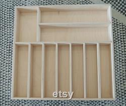 28 à 30 pouces d insert de tiroir de large, organisateur de tiroir sur mesure, organisateur de tiroir en bois, tiroir d argenterie