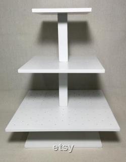 3 Tier Square Custom Made Cake Pop Stand. Détient 192 Cake Pops.