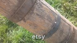 Antique en bois bol en bois primitif beurre Churn ferme outil Herb Grinder rustique navire ferme Decor jardin Decor rustique navire