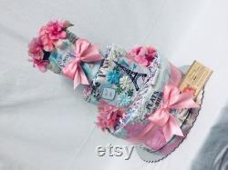 Avril à Paris Baby Diaper Cake Shower Cadeau ou pièce maîtresse
