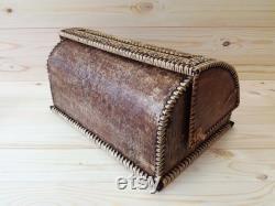 Bac à pain d écorce de bouleau Conte de fées , souvenier russe, boîte à pain d écorce de bouleau, cadeau d anniversaire, boîte à pain en bois, corbeille à pain Beresta