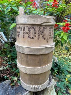 Baril en bois antique vieux bol ethnique ferme décor à la maison décor rustique