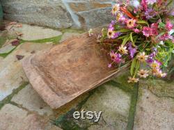 Bol de pâte vintage Bol de trench-de-vie en bois Long Bread Trough Rare Primitive Antique Unique Housewarming Gift Rustic Home Decor