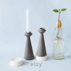 Bougie de porte en céramique, bougie bâton porte, bougeoir en céramique, moderne minimaliste, centre de table, décoration de cuisine, décoration de table à manger