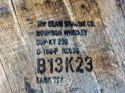 Bourbon barrel top lazy susan avec anneau en métal, susan paresseuse
