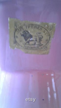 Broc émaillé rose