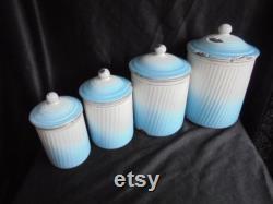 Casseroles émail vintage Fran ais pots bleu blanc cuisine s speis pots marmites