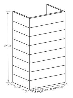 Castlewood Rustic Shiplap Extension de cheminée trimmable Brun