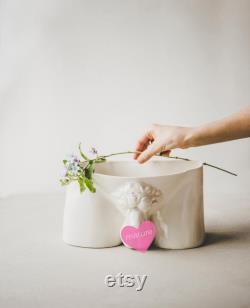Céramiques modernes Mâles Nu Motif Décoratif En céramique Fruit Bowl Magazine Holder Office Décor céramique Vase Ceramic Planter Coffee Table Décor