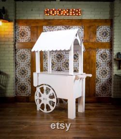 Chariot de bonbons (blanc)