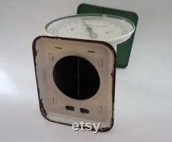 Chatillon échelle domestique blanc et vert Vintage