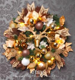 Christmas Wreath 25 in. Creation unique and original -door decoration-quality material style FarmHouse and very stocked.