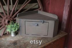 Coffret d angle de partie supérieure du comptoir boîte à pain d angle primitif de bois de grange ferme