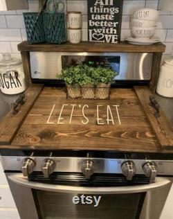 Conseil de nouilles gaz ou couvercle électrique cuisinière, couvercle de cuisinière, planches pour poêle, couvercle de poêle de ferme, panneau de ferme planche de poêle