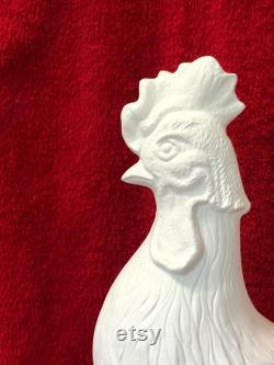 Coq en bisque en céramique prêt à peindre par jmdceramicsart