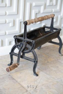 Décor antique de cuisine de distributeur de rouleau de papier de boucher, noir, dessus de table