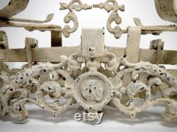 Échelle antique, échelle de marché antique, casseroles en laiton, échelle antique de fonte, échelle antique de cuisine, échelle d épicerie, décor chic de cuisine shabby
