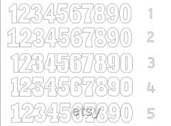 Ensemble de 2 nombres nombres géants 30 pouces 3D nombres Grand nombres de lettre debout libre Nombres pour commander le décor géant de partie de numéro de mousse