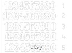 Ensemble de 2 numéros Nombres géants 30 pouces numéros 3D Grande lettre debout libre Lettres d expédition géant numéro de mousse Décoration partie