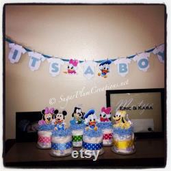 Ensemble de 6 personnages disney baby couche Minis-Baby douche ou décorations d anniversaire, bébé minnie, mickey, canard donald, goofy, pluton, marguerite