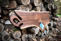 Extra Large Charcuterie Sreving Board Black Walnut Live Edge Cutting Board Ozarks Woodland