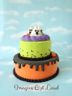Faux Cake Fake Halloween Ghosts Décor Food Kitchen Display Prop PRÊT À EXPÉdier